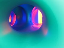 Tunnel di colore Immagine Stock