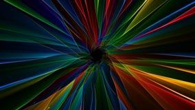 Tunnel di energia leggera di VJ video d archivio