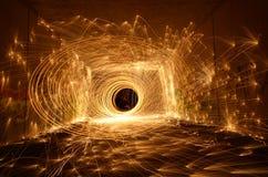 Tunnel di fuoco Immagini Stock