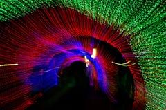 Tunnel di luce al neon durante il nuovo anno Fotografia Stock