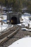 Tunnel di Moffat nel parco di inverno, Colorado Fotografia Stock Libera da Diritti