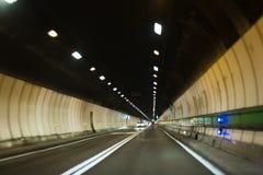 Tunnel di Mont Blanc Fotografia Stock