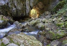 tunnel di pietra Fotografie Stock