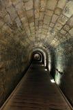 Tunnel di Templar in Acco Fotografie Stock