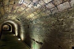 Tunnel di Templar in Acco Immagine Stock Libera da Diritti