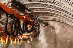 Tunnel die piperoof voegen royalty-vrije stock afbeelding