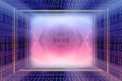 Tunnel digital de code binaire images libres de droits