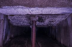 The tunnel is divided into two. Double tunnel. stock images