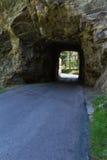 Tunnel door rots royalty-vrije stock afbeeldingen