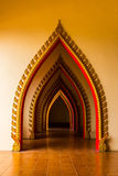 Tunnel door in the thai church at Thailand. Stock Photo