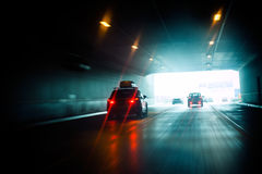 Tunnel drive to light Royalty Free Stock Photos