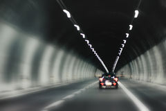 Tunnel driving abstract Royalty Free Stock Images