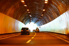 Tunnel driving Royalty Free Stock Photo
