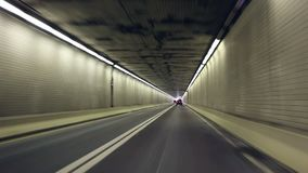 Tunnel driving stock footage
