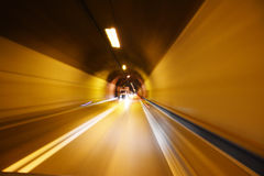 Tunnel driving Royalty Free Stock Photos