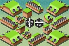 Tunnel e sezioni isometrici delle gallerie royalty illustrazione gratis