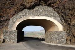 Tunnel in een berg royalty-vrije stock afbeelding