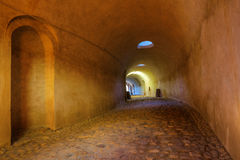 Tunnel at Ehrenbreitstein Fortress in Koblenz, Germany Stock Images