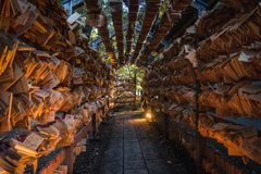 Tunnel of Ema stock photos
