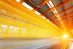Tunnel en acier Photographie stock libre de droits