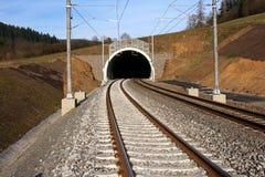 Tunnel en spoorweg Royalty-vrije Stock Afbeeldingen