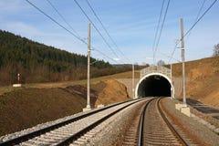 Tunnel en spoorweg Royalty-vrije Stock Afbeelding