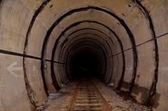Tunnel en sporen Stock Afbeelding