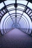 Tunnel en verre futuriste Images libres de droits