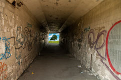 Tunnel At The End Of The Light Royalty Free Stock Photography