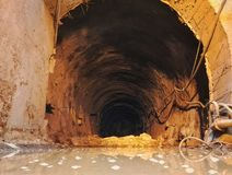 Tunnel Engineering water inrush accident site 3 Stock Photography