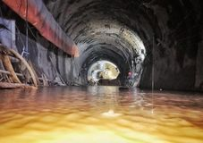 Tunnel Engineering water inrush accident site 2 Stock Images