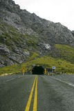 Tunnel Entrance. Northern entrance to the Homer tunnel, South Island, New Zealand Royalty Free Stock Image