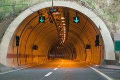 Tunnel entrance Royalty Free Stock Images