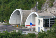 Tunnel Entrance on a Motorway Royalty Free Stock Photo