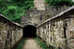 Tunnel entrance to the old fortress Royalty Free Stock Image