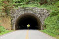 Tunnel. Underground bridge, tunnel in a mountain along the Blue Ridge Parkway Stock Image