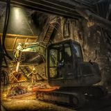 Tunnel Excavation construction site Stock Image
