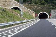 Tunnel expressway Royalty Free Stock Photos