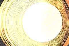 Tunnel för gult ljus Royaltyfria Foton