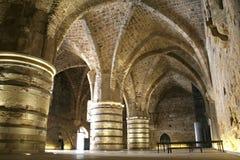 tunnel för jerusalem riddaretempler Arkivbild