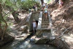 Tunnel för sju vårar, Rhodes ö Grekland Royaltyfri Foto