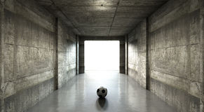 Tunnel för stadion för sportar för fotbollboll Royaltyfria Foton