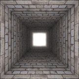 Tunnel för tegelstenvägg vektor illustrationer