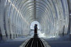 Tunnel für Skifahren Lizenzfreie Stockfotos