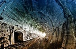 Tunnel ferroviario abbandonato Fotografia Stock