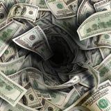 Tunnel finanziario Fotografia Stock Libera da Diritti