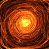 Tunnel of Fire. A digitally painted abstract tunnel of fire background Stock Photos