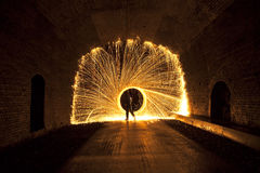 Tunnel firework Stock Images