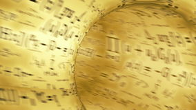 Tunnel through the formula. Animation of flying through research tonel stock footage
