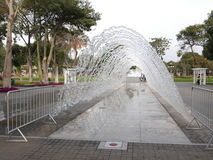 Tunnel fountain in the Magic Water Circuit, Lima Royalty Free Stock Image